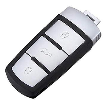 Carcasa para Llave de Coche con 3 Botones para VW Volkswagen Passat Mk7 B6, Llave de Mando a Distancia sin Llave, Repuesto