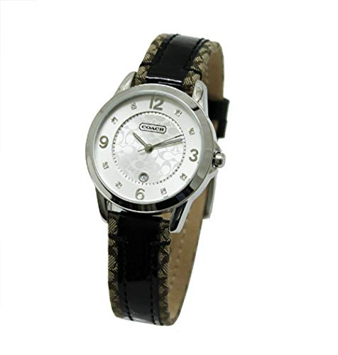 Coach Legacy Women's Silver Dial Leather/plastic Decorated Strap Watch -