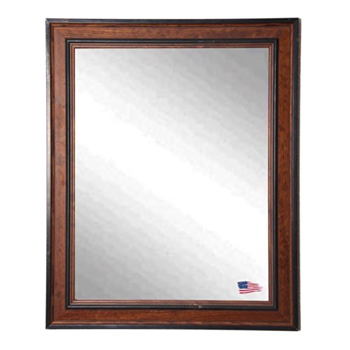 American Made Rayne Country Side Wall Mirror, 27.5 x 33.5 (Antique Brown Wall Mirror)