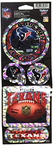 WinCraft NFL Houston Texans Prismatic Stickers, Team Color, One Size
