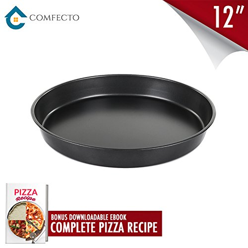 Christmas Gift Pro Pan Pizza Mould | Non Stick Aluminum Alloy 12 Inch Deep Dish Pizza Pan | Round Metallic Kitchen Baking Tray for Making Large Crispy Crust Pizza | Include Ebook | 960.7