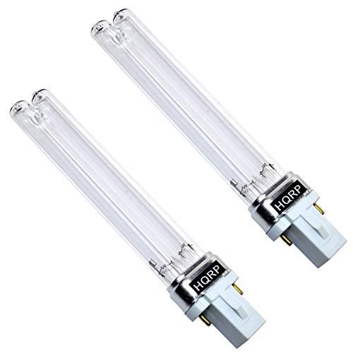 (HQRP 2-Pack 9W UV-C Bulb Replacement for Tetra UVC-9 9W UV Lamp fits GreenFree UV1 Mini Pond Clarifier Plus HQRP Coaster)