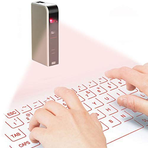 Portable Laser Keyboard Projector Virtual Wireless Keyboard & Mouse for iPhone, Ipad, Smartphone and (Best Virtual Keyboard For Iphones)