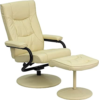 Beautiful Amazon.com: Flash Furniture Contemporary Cream Leather Recliner  XI41
