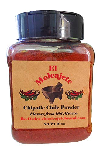 Chipotle Powder 10 oz for Sauces, Salsa, Pasta, Chili, Meat, Pizza, Potatoes, Vegetables, Soups, Stews , Chicken and BBQ ()