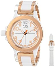 ESQ Movado Women's 07101403 esq Fusion Rose-Ion Plated Interchangeable Strap Watch