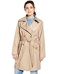 Women's Plus-Size Classic Double-breasted Trench Coat