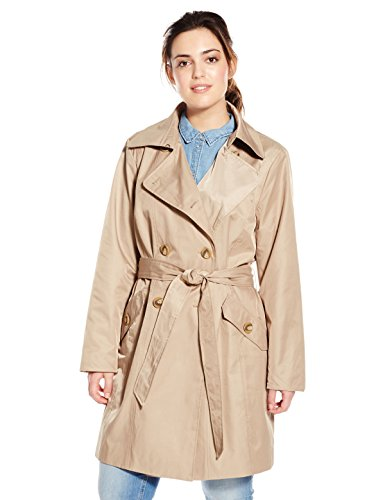 Anne Klein Women's Plus-Size Classic Double-breasted Trench Coat Plus, British Khaki, 1X Anne Klein Womens Trench Coat