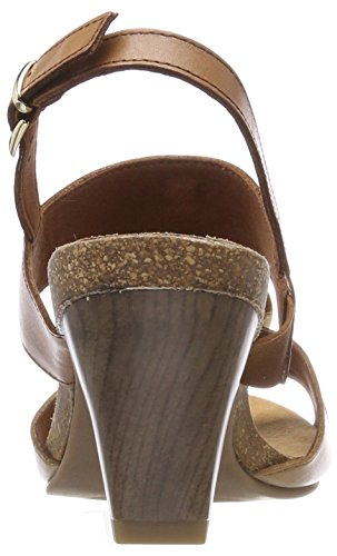 Camel 357 Mujer Sandalias para 28307 Abierto Talón de Caprice Sand Marrón x8FCwpqW