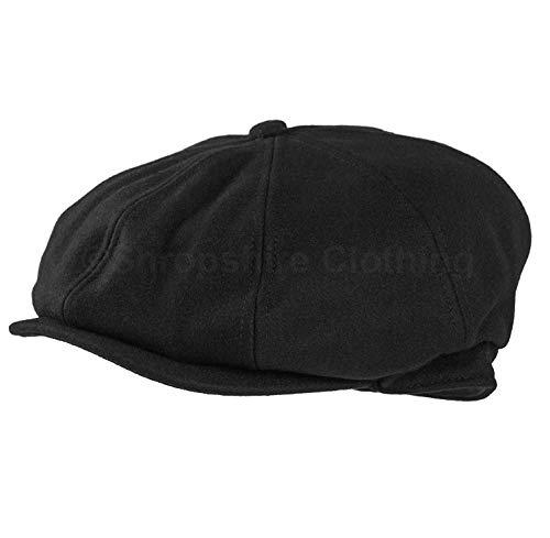 JMC Trading Company Dark Grey 8 Panel Herringbone Tweed Cap