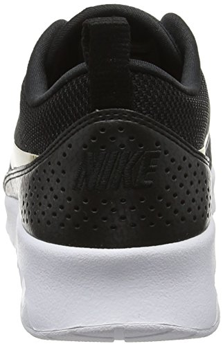 Nike Women's WMNS Air Max Thea J Gymnastics Shoes, Bianco Multicolour (Black/Metallic Gold- 002)