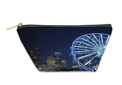 Gear New Accessory Zipper Pouch, Ferris Wheel At The Fair Night Lights In Houston, Small, (Fair Night Light)