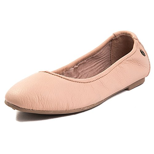 Minnetonka Women's Anna Ballerina Leather Ballet Flat, Blush, M 9 US