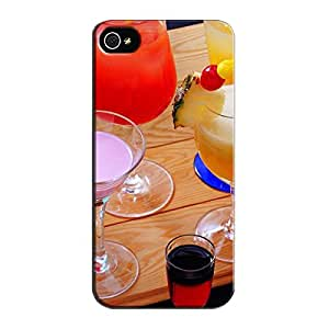 Shockproof Other Cocktails Brown Protective Hard Case For Iphone 5s Cocktails