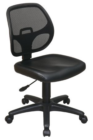 Work Smart Mesh Screen Back Task Chair with Vinyl Seat, Mult