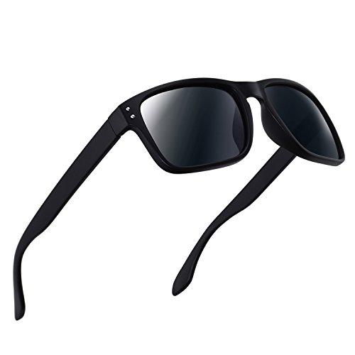 Polarized Sunglasses for Men Women Driving Fishing Unisex Vintage Rectangular Sun Glasses by MOFLYOM