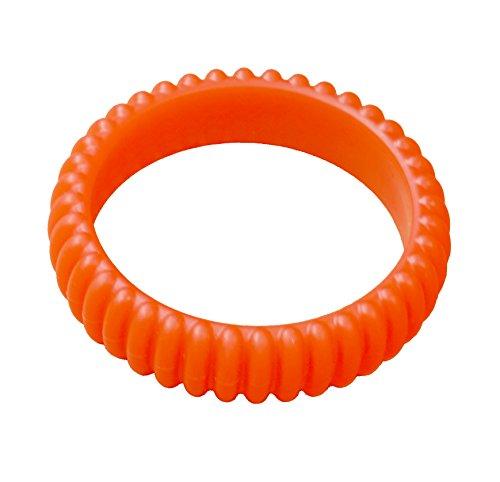 KidKusion Gummi Teething Bracelet Cable, Orange