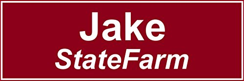 Progressive Insurance Costume (Jake From State Farm Halloween Costume Name Tag - Funny Halloween Costume)