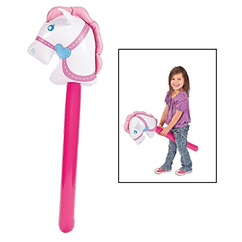 Fun Express Inflatable Cowgirl Stick Horse. Vinyl. Inflated, (Pony Express Ride)