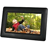 Sylvania SDPF651 7-Inch Digital Photo Frame with Clock and Calendar Functions (Black)
