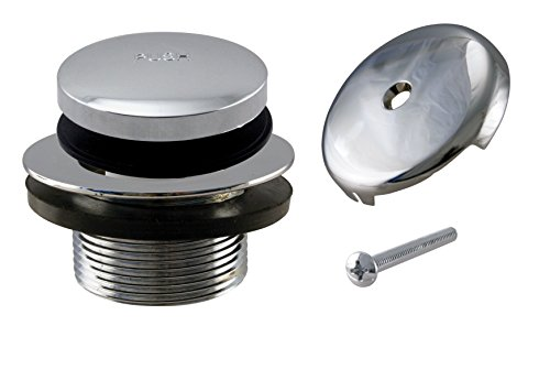 Westbrass Tip-Toe Coarse Thread Tub Trim Set with 1-Hole Overflow Faceplate, Polished Chrome, R93-26