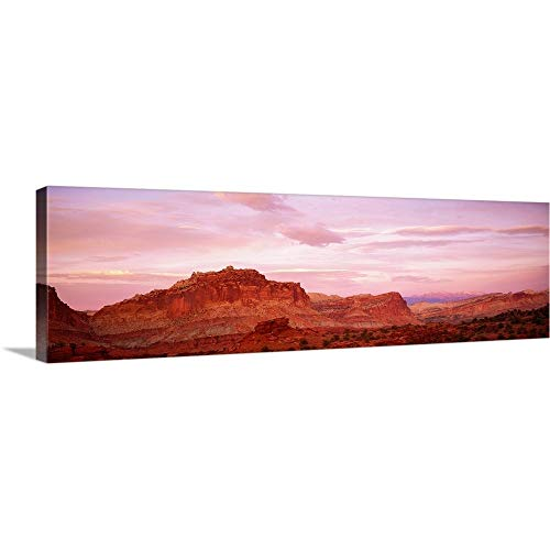 GREATBIGCANVAS Gallery-Wrapped Canvas Entitled Dusk Panorama Point Capital Reef National Park UT by 90
