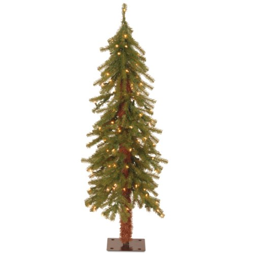 (National Tree 4 Foot Hickory Cedar Tree with 100 Clear Lights (CED7-40LO-S))