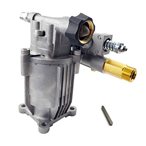 """Pressure Washer Replacement Pump 2800 Psi 2.5GPM Gasoline Power Washer Pump - Horizontal Pump with 3/4"""" Shaft  M22 Connectors Include Keyway"""