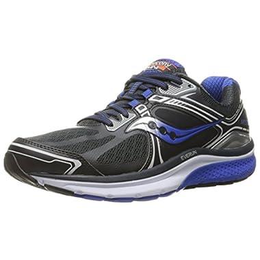 Saucony Men's Guide 7 Running Shoe,Silver/Blue/Black,8 XW US