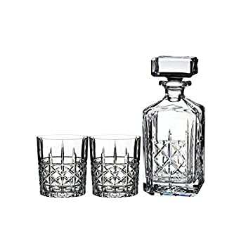Image of Marquis By Waterford Brady Decanter Set, 32 oz 11 oz Glasses