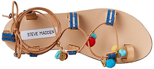 Steve Madden Women's Cailin Gladiator Sandal Natural/Multi G9mwWyG