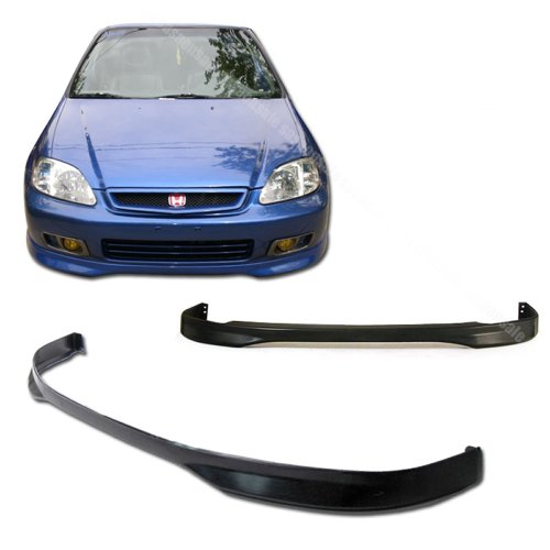 NEW - 1999-2000 HONDA CIVIC Coupe Sedan Hatchback Type R Style PU Front Bumper Lip (Honda Civic 2dr Type)