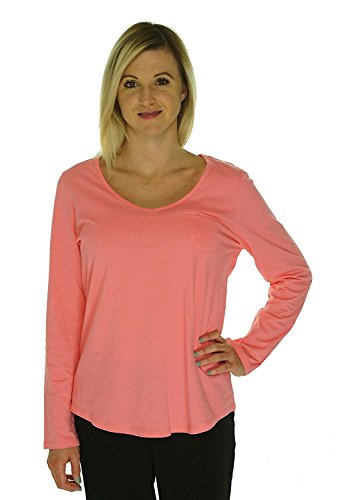 Charter Club Women's V-Neck Long Sleeve Shirt