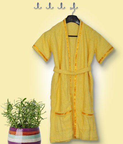 Skumars Love Touch - Solid - Bath Robe - Yellow - Age : 5 to 7 Years