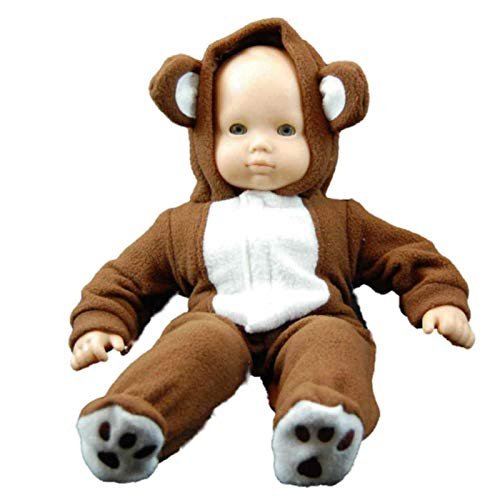 The Queen's Treasures 15-inch Doll Clothing Soft Plush Bear Hoody Sleeper with Reusable Plastic Hanger. Fits any 15-inch American Girl Doll from The Queen's Treasures