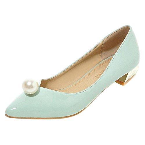 Slip 32 Dress QianLv On Block Women's Asian Shoes Heel Shoes Party TAOFFEN Size Court Ewqt7A