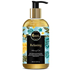 Oriental Botanics Relaxing Body Massage Oil for Pain Relief in Back, Legs, Arms, Knee, Body, 200ml (ORBOT13)
