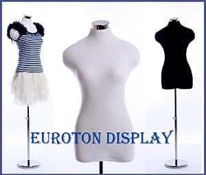 Eurotondisplay B + h-97 lady maniquí con el muñeco de costura para blanco y negro diseño de