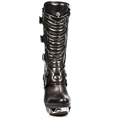 MAG006 M Stiefel New Black Leder Rock Alle S1 aus wUABqB6