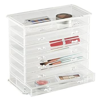 Amazoncom Palamo Clear Acrylic Jewelry Organizer and Makeup