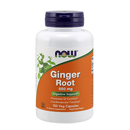 NOW Ginger Root 550mg, 100 Capsules