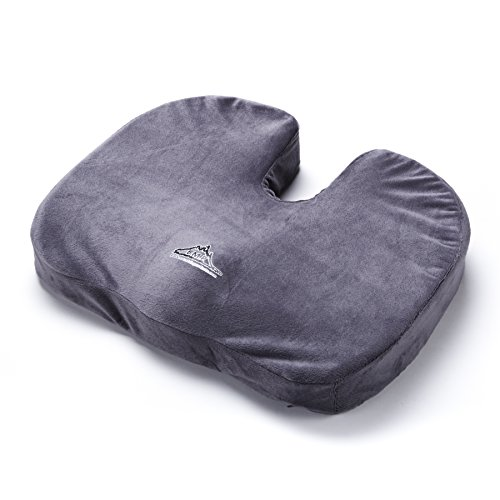 Black Mountain Products Orthopedic Comfort & Stadium Seat Cushion, Grey