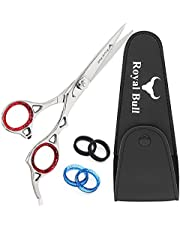 Hair Scissors Professional Hairdressing Scissors Barber Scissors Hair Cutting Scissors 6.5 Inches Stainless Steel Scissors For Hairdressers Salon Barbers Men Women   Royal Bull