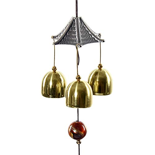 Wind Chimes & Hanging Decorations - Amazing Great Sound Bronze Color Bells Wind Chimes China Copper Coin Home Decor Happy Gifts- 1 Pcs