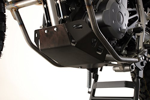 SW-MOTECH Black Aluminum Engine Guard Skid Plate for Kawasaki KLR650 '87-'07 | Black ()