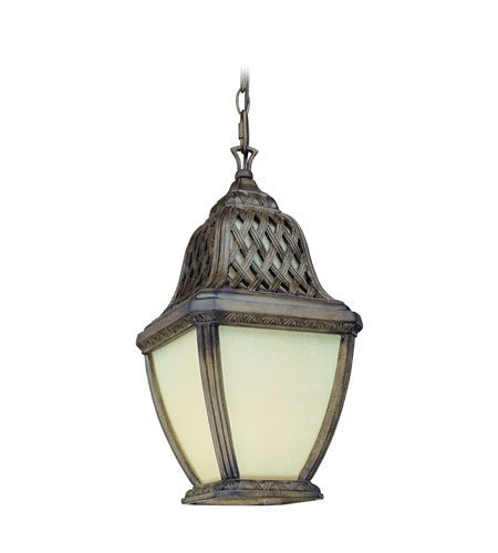 Outdoor Pendant 1 Light with Biscayne Finish Composite Material Fluorescent 10 inch Wide 26 Watts ()