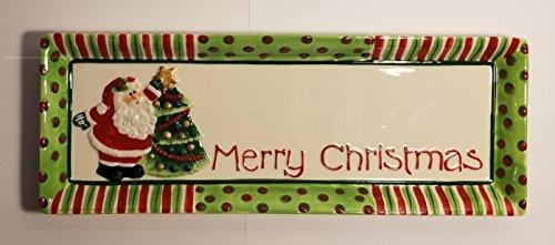 Fitz and Floyd Merry Christmas Santa Tray ()