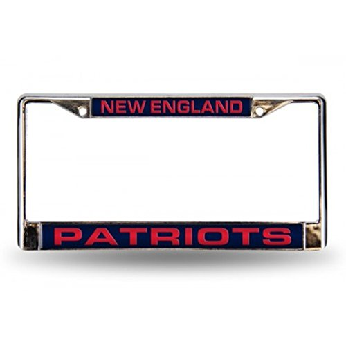 NFL New England Patriots Laser-Cut Chrome Auto License Plate Frame