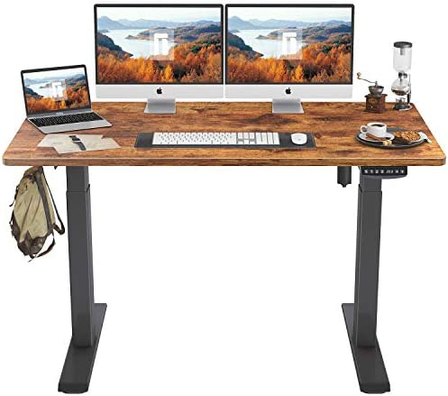 FEZIBO Height Adjustable Electric Standing Desk - a good cheap home office desk