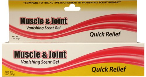 3oz Muscle and Joint Vanishing Scent Gel Case Pack 72